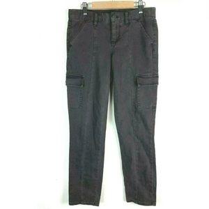J. Crew City Fit Pants 27 Denim Cargo Khaki